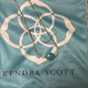 Kendra scott necklace in teal